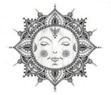 Smiley Mandala sized